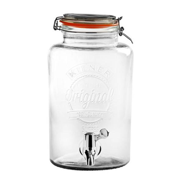 Fontaine a boisson distributeur en verre 5l kilner